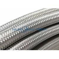 Buy cheap Knitted Wire Steel Braided Hose Sleeve , 304 Stainless Steel Wire Sleeve from Wholesalers