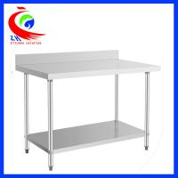 China Disassemble stainless steel worktable with back splush / stainless food prep table factory