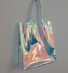 Buy cheap Rainbow Laser Hologram Travel Cosmetic Handbag Rainbow Laser PVC Tote Bag Rainbow Laser Shoulder Bag from Wholesalers
