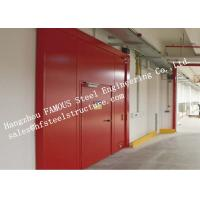 Buy cheap PU Sandwich Core Painted Surface Steel Fireproof Doors For Warehouse Storage from Wholesalers