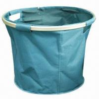 China Storage Baskets, Made of 600D Polyester and Round Aluminum Tubes factory