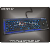 Quality LED 80 keys Backlit dust proof keyboard with Trackball mouse , metal keyboard for dark conditions wholesale