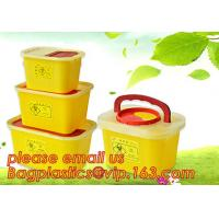 China BIOHAZARD WASTE CONTAINERS, PLASTIC STORAGE BOX, MEDICAL TOOL BOX, SHARP CONTAINER, SAFETY BOX, Disposable Hospital Bioh factory