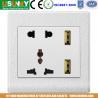 Buy cheap 5V2.4A USB socket double USB socket new design 5 holes usb socket brushed from wholesalers