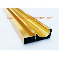 Buy cheap Electrophoretic Coated Gold Aluminium Cabinet Door Profiles 0.4mm-20mm Thickness from Wholesalers