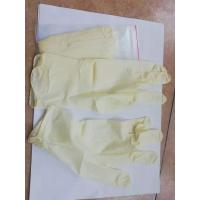 China Biology Experiment Disposable Latex Gloves S M L Size Yellow Color factory