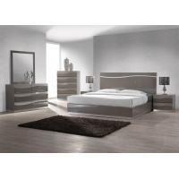 Buy cheap King Size Bedroom Furniture Sets , Dark Color High Gloss Bedside Cabinets E1 MDF from Wholesalers