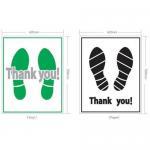 Plastic/paper floor mat