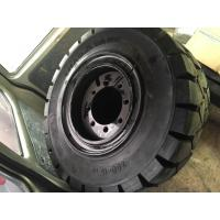 China Heavy duty forklifts rubber fork lift tyres / forklift truck spare parts on sale