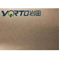 Buy cheap Color Painted Brushed Aluminum Sheets Customizable Width Good Rigidity from Wholesalers