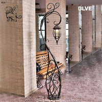 China Factory Wholesale Iron Wrought Lamp Posts Street Landscape Ornamental factory
