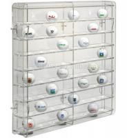China acrylic golf ball display case large plexiglass display cabinet for golf ball wholesale display case factory