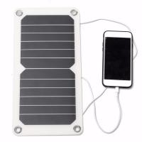 China A Grade Sunpower Thin Flexible Solar Panels 5V 5W For Outdoor Traving / Camping factory