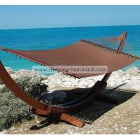 Buy cheap Oversized Caribbean Style Hammock For Patio Mocha , Stand Alone Hammock With Stand Set from Wholesalers