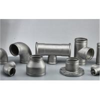 Buy cheap Stainless Steel Grooved Pipe Fittings With Sandblasting / Polishing Surface Treatment from Wholesalers