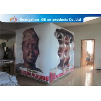 Buy cheap Fireproof White Cube Inflatable Helium Balloons PVC Material Full Digital Printing from Wholesalers