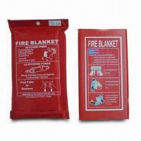 China Car Fire Blankets, Made of Fiber Glass material, Available in Various Sizes factory