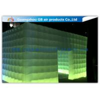Buy cheap Pvc Coated Nylon Inflatable Air Tent Square Tent Booth With Led Lighting from Wholesalers