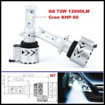 Buy cheap G8 72W 12000LM LED headlight H4 H7 H16 H9 H10 H11 9005 9006 CREE XHP50 LED Headlight Kit from Wholesalers