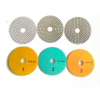 Buy cheap White 3 Steps 4 Inch Wet Diamond Polishing Pads For Stone / Marble from Wholesalers