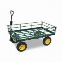 China Garden Cart with Pb-free/UV-resistant Powder Coating, Made of Steel factory