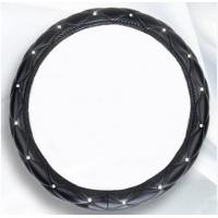 Crystal Crown covered Leather Car Steering Wheel Cover Diamond Steering Covers