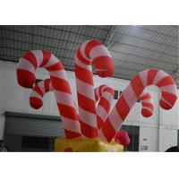 China Giant Colorful Inflatable Christmas Stick / Inflatable Candy Cane Stick / Inflatable Walking Stick factory