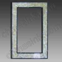 Buy cheap white onyx mosaic mirror frame 49 stone mirror from Wholesalers