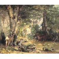 Impressionist(3830) Shelter of the Roe Deer at the Stream of Plaisir-Fontaine, D