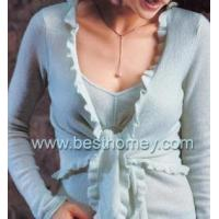 Buy cheap SWT-L11012 Ladies Cashmere Sweater set with wave border from Wholesalers