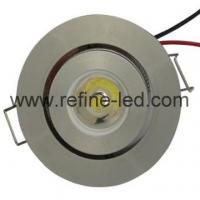 Buy cheap 1W High Power LED Aluminium Downlight with Grey Color from Wholesalers