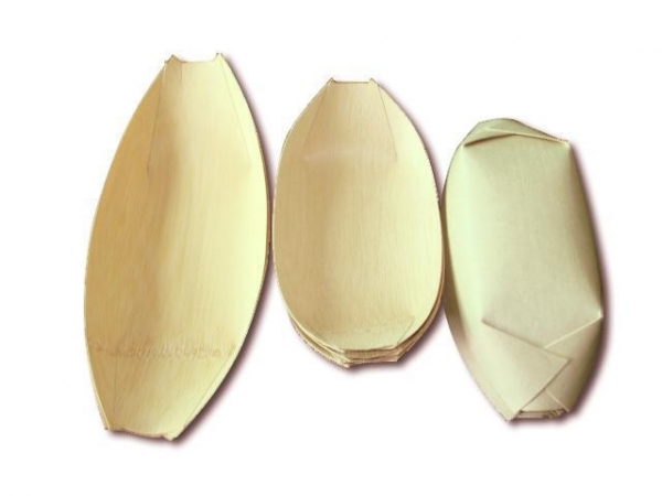 Quality Disposable Bamboo Dinnerware Boat for sale