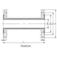 Fluorin lined direct pipe Lined pipe fittings--straight pipe, converging tube