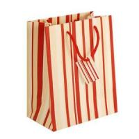Buy cheap Red & White Striped Paper Handbag from Wholesalers