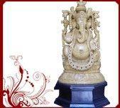 Blessing Ganesha statue Wood