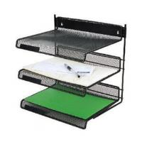 3-TIER metal mesh file tray