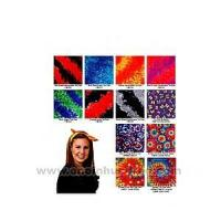 China Tie dye bandanna with wax printing multi color design. factory