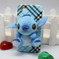 Quality Stereo various 3D lint cartoon hard case for iphone 4G 4S wholesale