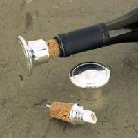 Quality Engraved SilverPlated WineBottle Stopper/Pourer wholesale