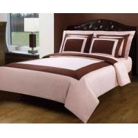 Blush Pink And Chocolate Hotel Egyptian Cotton Down Alternative Bed In A Bag
