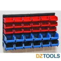 Hand Tools 30 Bin Wall Mount Parts Rack