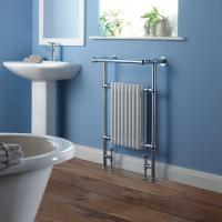 China BestBathrooms Traditional Brass Heated Towel Radiator 940mm x 635mm (With Stylish Angled Top Rail) on sale