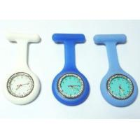 China Nurse Fob Watch Diamond Silicone Nurse Fob Watch With Changeable Battery / A Metal Brooch Pin on sale