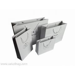 Quality White paper shopping bag for sale