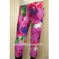 Buy cheap 180 GRAM ELASTON SOFT,REACTIVE PRINTED 3/4 PANT WITH BODY FIT. from Wholesalers