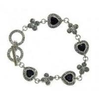 Buy cheap Holiday Gifts Marcasite and Jet Black Bracelet from Wholesalers