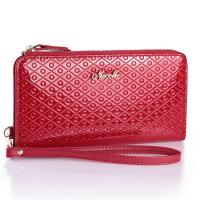 China NUCELLE Genuine Patent Leather Clutch Wristlet Bag Wallet Red on sale