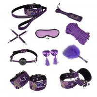 Buy cheap Butterfly 10pc Leather Bondage Set Collar, Paddle, Hogtie, Mask, Rope from Wholesalers