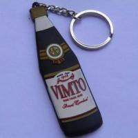 Buy cheap 2D Wine bottle shape pvc keychain from Wholesalers