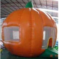 Round orange Inflatable Outdoor Yard Party Tent For Trading Show